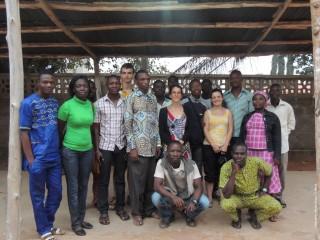 Avec l'équipe d'animation de la Cathédrale Notre-Dame de Cotonou (2011 et 2012)